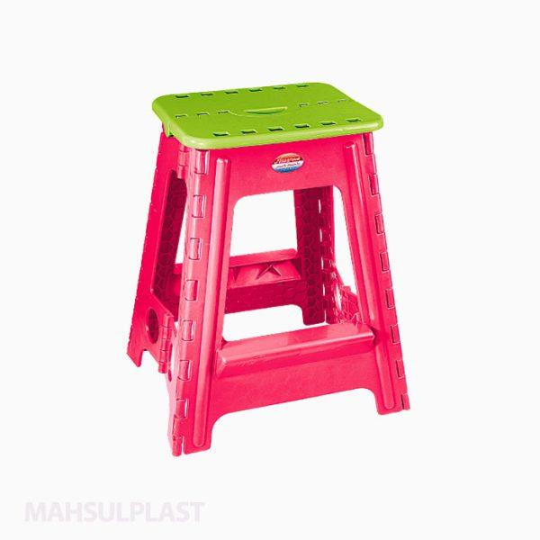 چهارپایه تاشو بلند مدل ۵۱۸ناصر پلاستیک