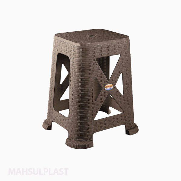 چهارپایه بلند حصیری ثابت مدل ۸۶۷ ناصر پلاستیک