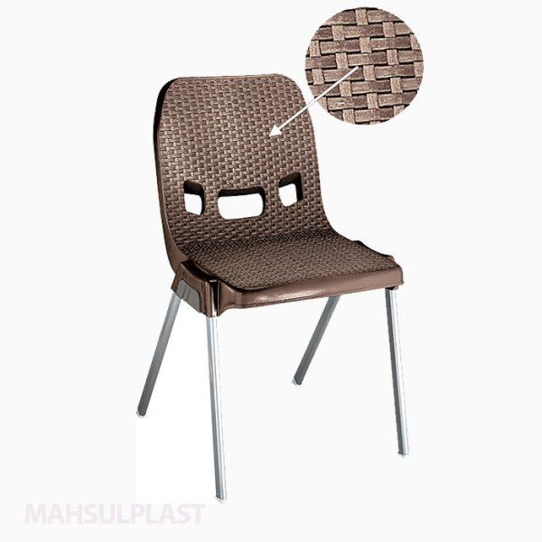 صندلی پایه فلزی حصیربافت کد ۸۸۱
