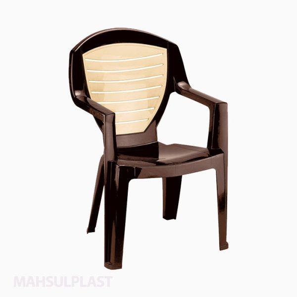 صندلی دسته دار دورنگ کد ۸۸۴ ناصر پلاستیک