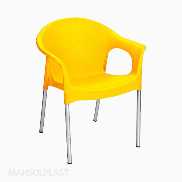 صندلی دسته دار با پایه فلزی کد ۹۹۰ ناصر پلاستیک