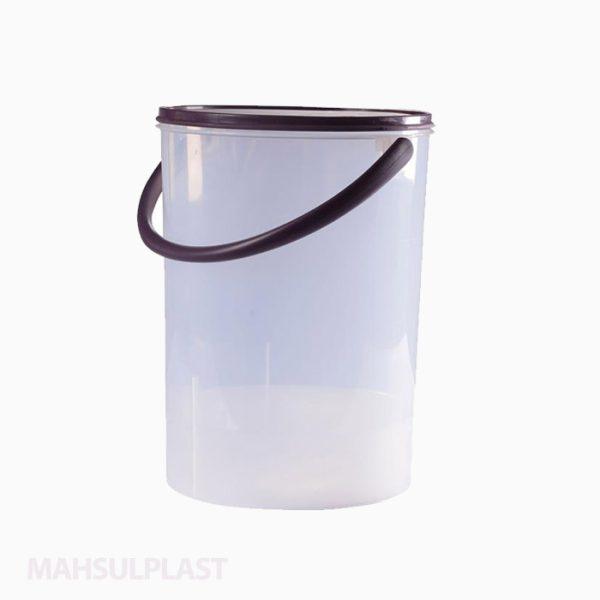 سطل درب دار دسته پلاستیکی 5 لیتری
