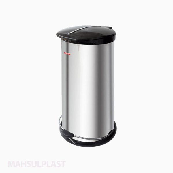 سطل زباله پدال دار استیل ۳۰ لیتری دوجداره کد NP65