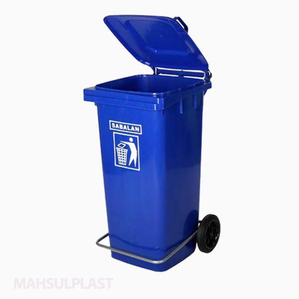 سطل زباله پلاستیکی ۲۴۰ لیتری چرخدار و پدالدار