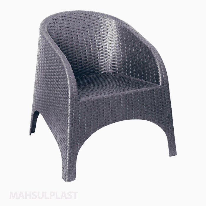 صندلی حصیربافت آروبا نقرهای