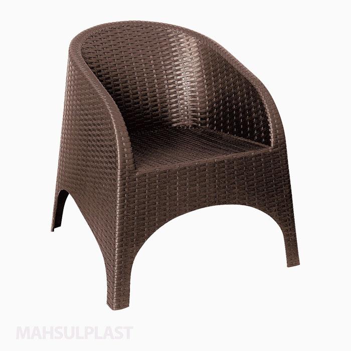 صندلی حصیربافت آروبا قهوهای