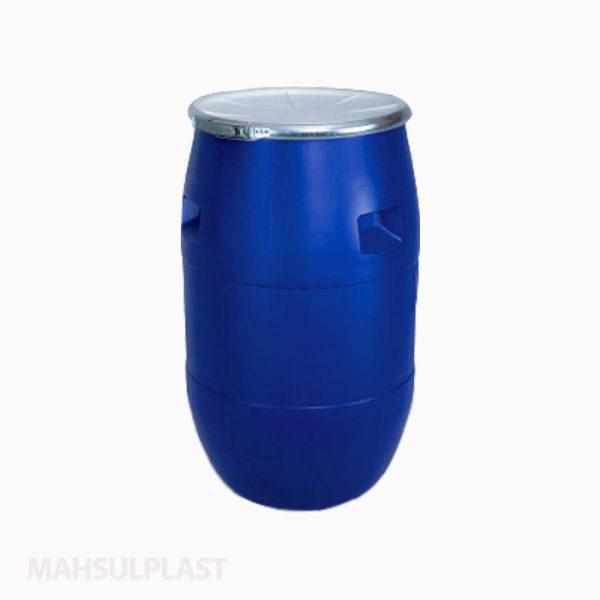 بشکه پلاستیکی ۱۰۰ لیتری تسمه فلزی