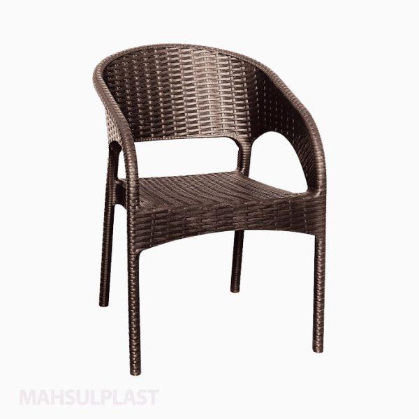 صندلی دسته دار حصیری پاناما کد ۹۹۲ ناصر پلاستیک
