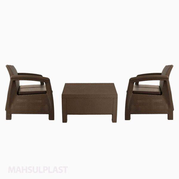 ست میز و صندلی مبله ۲ نفره بابل
