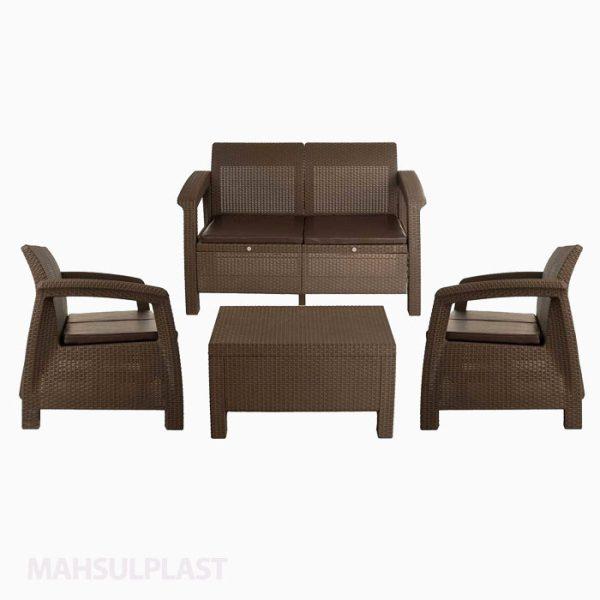 ست میز و صندلی مبله ۴ نفره بابل