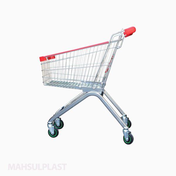 چرخ خرید فلزی فروشگاهی 60 لیتری