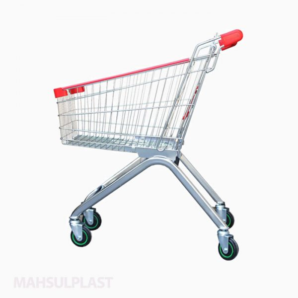 چرخ خرید فلزی فروشگاهی 80 لیتری
