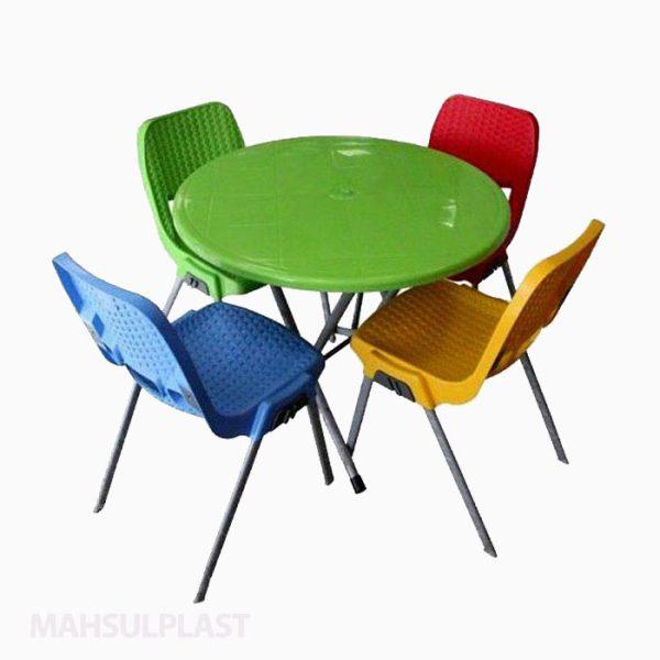 ست میز و صندلی ۴ نفره ناصر کد ۵۰۲۰
