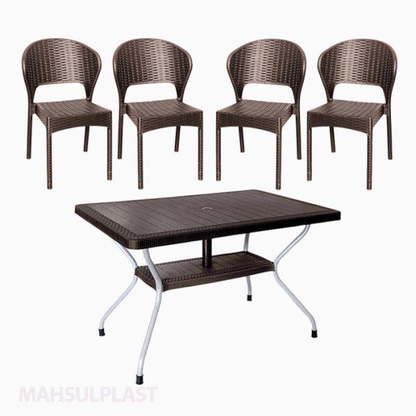 ست میز و صندلی ۴ نفره کد ۵۰۲۸