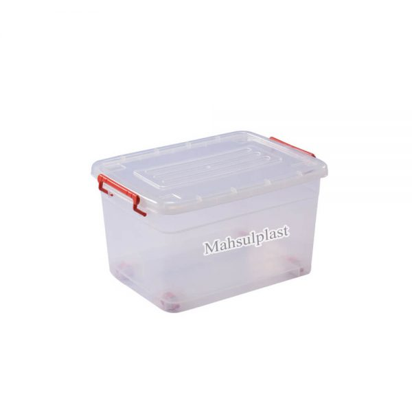 باکس شفاف چرخدار - محصول پلاست