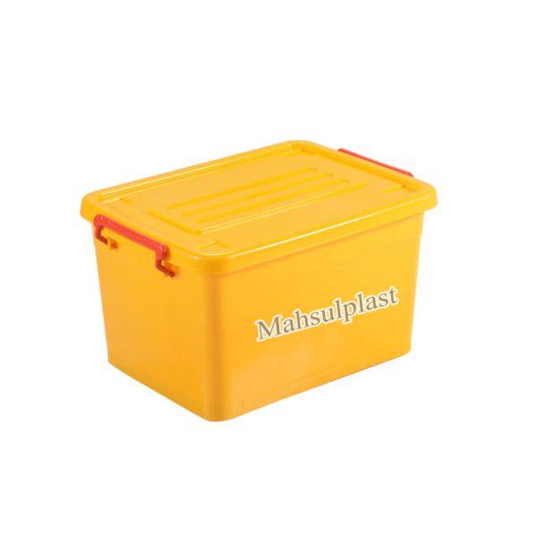 باکس زرد چرخدار - محصول پلاست